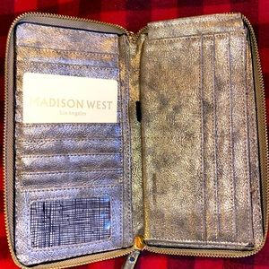 Madison West Wristlet Wallet Brand New Metallic